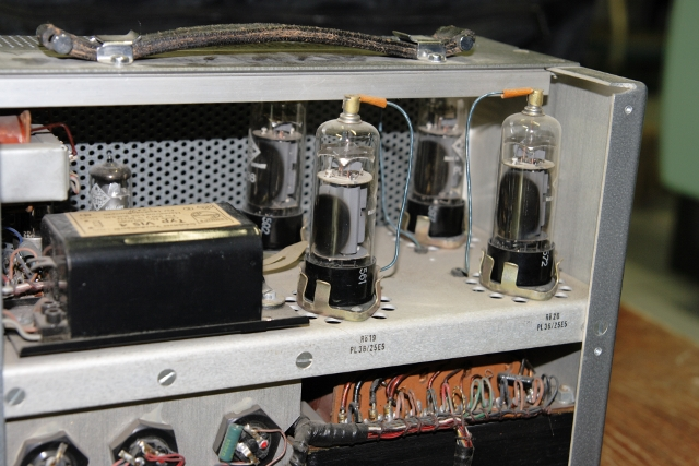 Inner view of the power supply