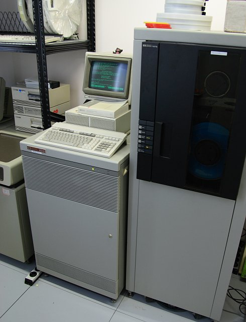 Bild: View of the CPU and tape drive