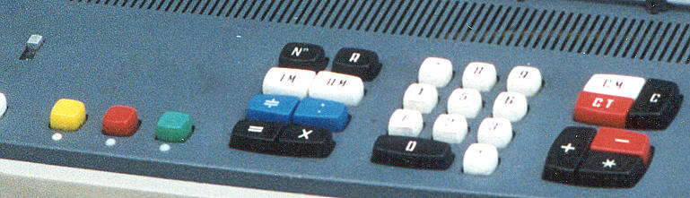 The keyboard in detail